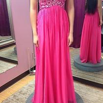 Blush Prom Hot Pink Jewelry Sequin Prom Dress Photo