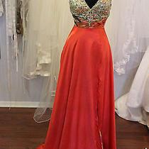 Blush Prom Orange/multi Color Sz 0 Nwot Prom/formal - Sample Sale Orig 358 Photo
