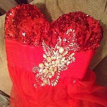 Blush Prom Red Dress......beautiful Size 12 Photo