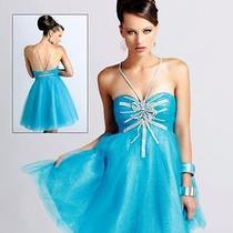 Blush Prom Short Blue Prom Dress Size 2 Photo