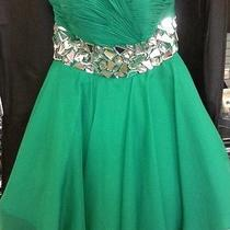 Blush Prom Short Dress New With Tags Emerald Green Size 2 Photo