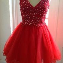 Blush Prom Short Dress New With Tags Red Size 6 Photo