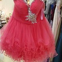 Blush Prom Short Formal Dress in French Rose - Size 14 - New Photo
