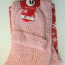 Blush Rose Pink Infinity Loop Circle Scarf Hat Winter Soft Knit Set - Flash Sale Photo