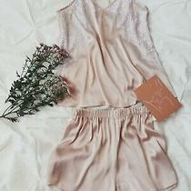 Blush Satin Pajama Set for Women Top and Shorts Pajama Set Satin Shorts Pj Set Photo