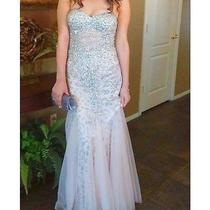 Blush Sequin Prom Dress Size 8 Photo