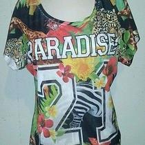 Blush Shredded Jersey Medium Shirt Nwt Photo