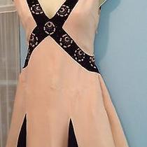 Blush Silk X-Shaped Beaded-Trim Shift Dress  Temperley London sz.4(usa) or 8(uk Photo