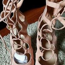 Blush Suede Lace Up Heels Photo