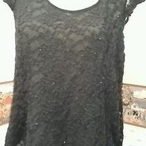 Blush Top Size 3x W Sleeveless Black Lace Sheer Back Panel Front W/blk Lace  v- Photo