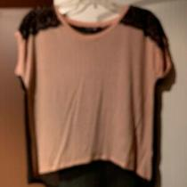 Blush Top With a Black Sheer Back Size Small Forever 21 Photo