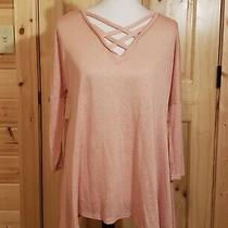 Blush Top With Criss Cross Front Size M Nwot Photo