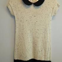 Blush Us Angels Nwt Beige/black Colorblock Short Sleeve Sweater Dress Sz 12 89 Photo