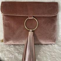 Blush Velvet Tassel Accessory/handbag/clutch W/removable Gold Wristlet Chain Photo
