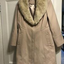 Blush Wallis 3/4 Jacket Detachable Fur Collar Size 12 Worn Once Photo