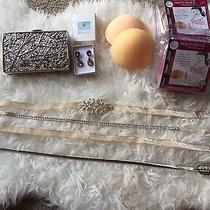 Blush Wedding Set (Belts Clutch Boob Cups (3 Sets) Earrings) Photo
