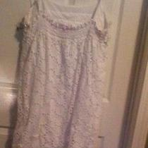 Blush White Dress Size Large 100% Cotton Photo
