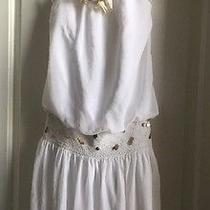 Blush White / Gold Dress Size 16  Must See Photo
