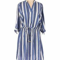 Blush Women Blue Casual Dress 1x Plus Photo