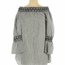 Blush Women Gray 3/4 Sleeve Blouse S Photo