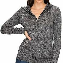 Blush Women's Full Zip Hoodie Jacket - Lightweight Long Sleeve Hooded Zip Up Pul Photo