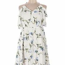 Blush Women White Casual Dress M Photo