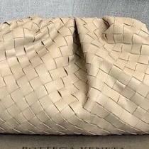Blush Woven Leather Clutch. Bottega Style Photo