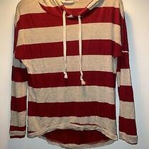 Blushed Brand Sweater Pullover Hoody Tan & Red Size Med Photo