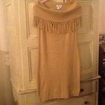 Blushes Impressions Camel Knit Cowl Neck Dress Size M Photo