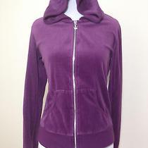 Blushes Sports Women's Full Zipper Velour Hoodie Size M Fits Small X2 Photo