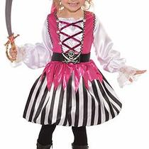 Blushing Bucaneer Pirate Pink Child Girls Costume Size S Small 4-6 New Photo