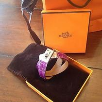 Bnib Authentic Hermes Croc Double Tour Bracelet Photo