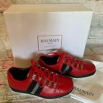 Bnib Balmain 695 Zip Detail Women Sneakers Red Size 38 Photo