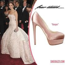 Bnib Brian Atwood Nude Blush Wedding Pump Sz 37 (7 Us) Seen on Jennifer Lawrence Photo