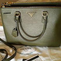 Bnib Fall 2015 Prada Saffiano Tote Bag Military Green 33 Cm Photo