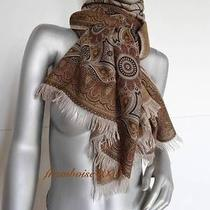 Bnib Hermes Cashmere Silk Stole Cachemire Ancien Shawl Scarf Etole Photo