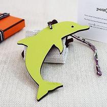 Bnib Hermes Pitit H Dolphin Charm Bi Color Kiwi & Brulee Photo