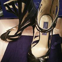 Bnib Jimmy Choo X h&m Caged Strappy Black Heel Le 39 8  Stud Leather Bracelet Photo