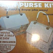 Bnib Vintage Decoupage Barn Purse Kit by American Handicrafts Photo