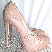 Bnwb Brian Atwood Women Wedding Nude Studded Maniac Pumps Sz 38 Photo