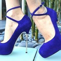 Bnwob Brian Atwood 'Follow Me' Stiletto Pumps Sz 37 ( 7 Us) Luxurious  Hot  Photo