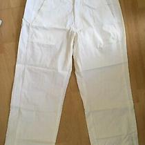 Bnwot Genuine Roxy Quiksilver Long Shorts Size 3 Uk 8 - 10 White Capri Pants New Photo