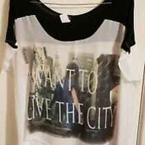 Bnwot Made in Usa (Ny) T-Shirt Shorter Front Hem Longer at Back One Size Photo