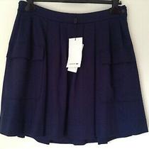 Bnwt 100% Auth Lacoste Ladies Navy Skirt. 44 Uk 14 Rrp 125.00 Photo