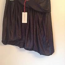 Bnwt 100% Auth See by Chloe Navy Wet Look Unique Skirt. Uk 12 Rrp 290 Photo