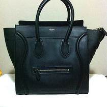 Bnwt 2014 Celine Mini Luggage in Black Drummed Leather and Silver Hardware Photo