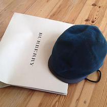 Bnwt 465 Burberry Prorsum Corduroy Driving Cap Hat Teal Blue Size M 56 57 Photo