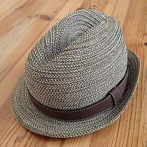 Bnwt 495 Burberry Prorsum Trilby Hat Leather Band Dark Malt Size M 56 57 Photo