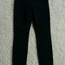Bnwt 7 for All Mankind Womens Super Skinny Black Jeans W 29 L 30 Zip Fly Jegging Photo