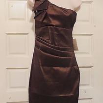 Bnwt 79 Arden B. Bronze One Shoulder Cocktail Wedding Special Occasion Dress M Photo